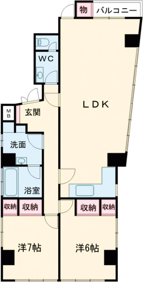Randor Residence Tokyo Grand・701号室の間取り