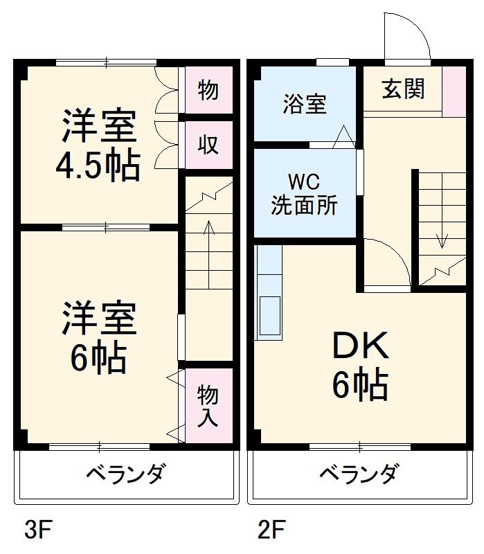 Rハウス仏生寺・E-30号室の間取り