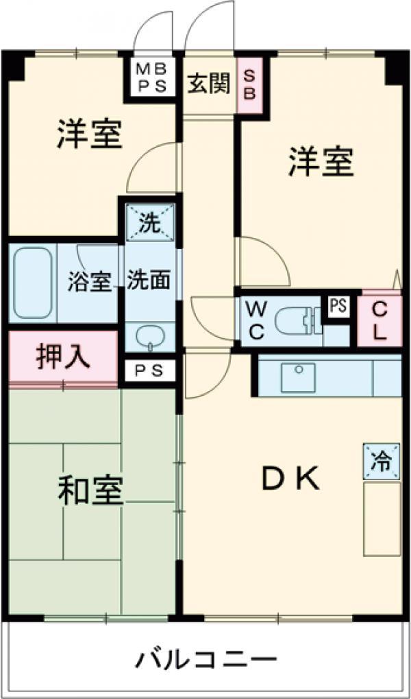 ライオンズマンション西高島平第3・203号室の間取り