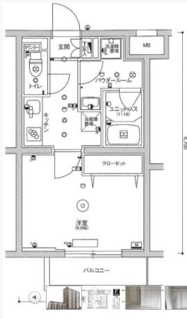 スカイコート板橋本町Ⅱ・307号室の間取り