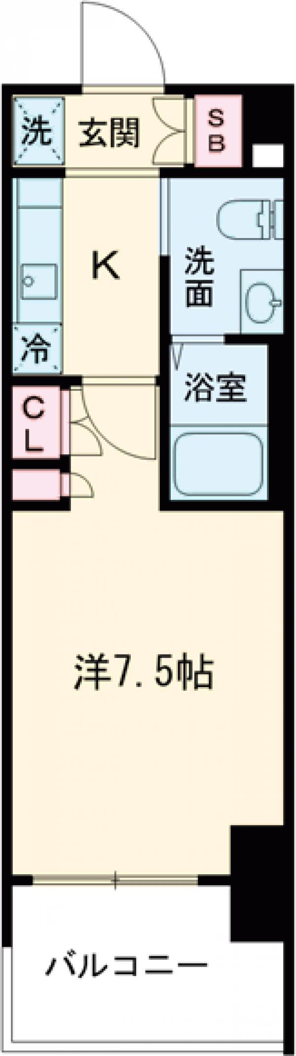 AZESTお花茶屋Ⅱ・306号室の間取り