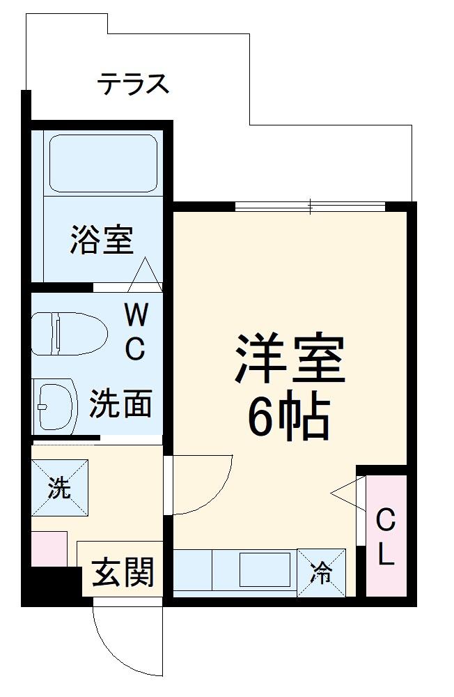 ハーミットクラブハウス杉田Ⅱ(仮)・102号室の間取り