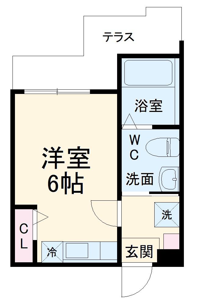 ハーミットクラブハウス杉田Ⅱ(仮)・103号室の間取り