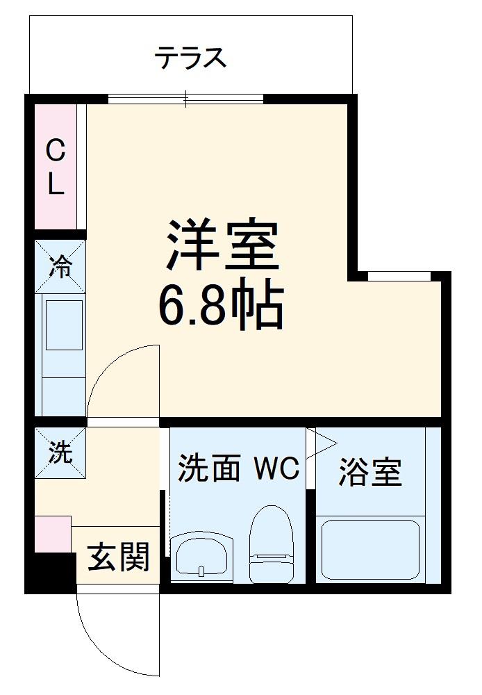 ハーミットクラブハウス杉田Ⅱ(仮)・104号室の間取り