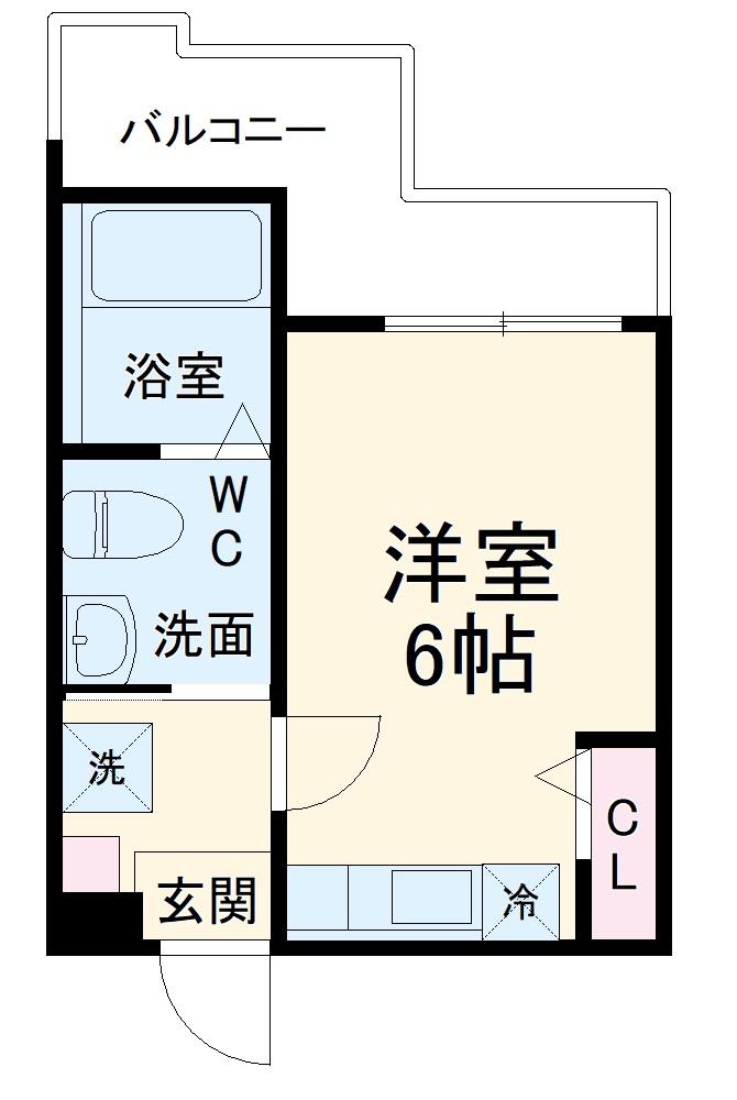 ハーミットクラブハウス杉田Ⅱ(仮)・202号室の間取り