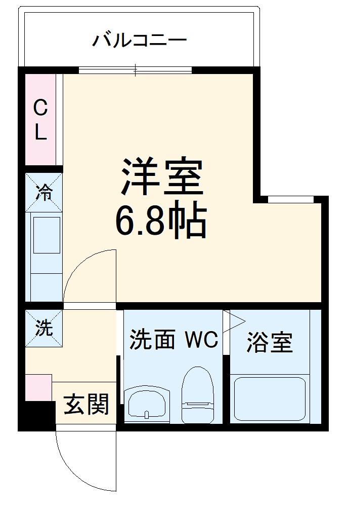 ハーミットクラブハウス杉田Ⅱ(仮)・204号室の間取り