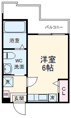 ハーミットクラブハウス杉田Ⅱ(仮)・302号室の間取り