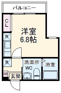 ハーミットクラブハウス杉田Ⅱ(仮)・304号室の間取り
