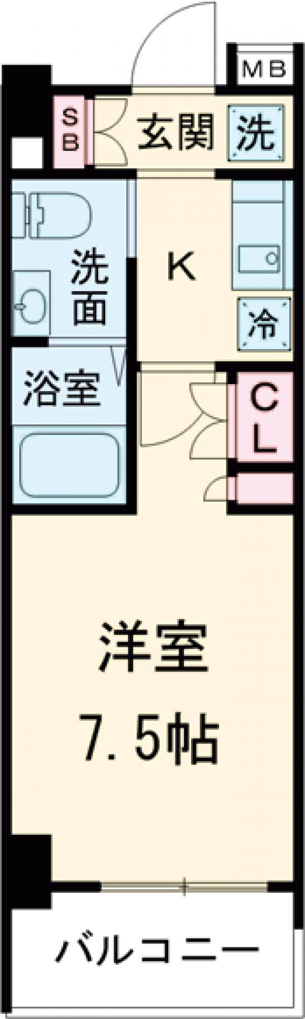 AZESTお花茶屋Ⅱ・405号室の間取り