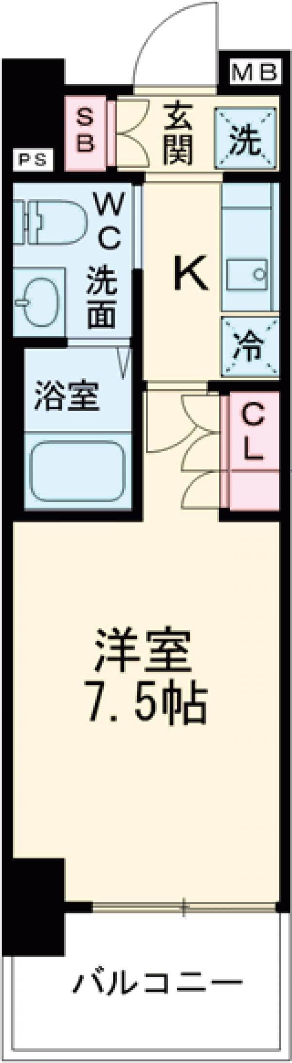 AZESTお花茶屋Ⅱ・503号室の間取り