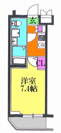 レオーネ亀有WEST・305号室の間取り