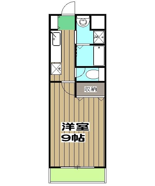 メイプルリーフ嵯峨野・303号室の間取り