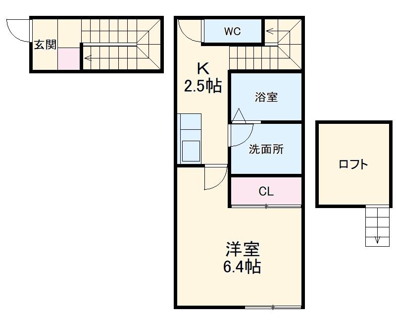 CHIKUSA-SIX 202号室の間取り