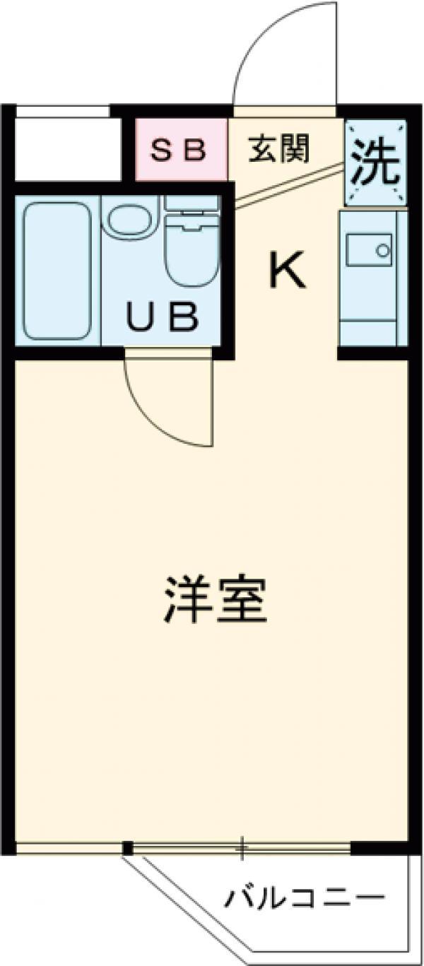 パレ・ドール西国分寺 104号室の間取り