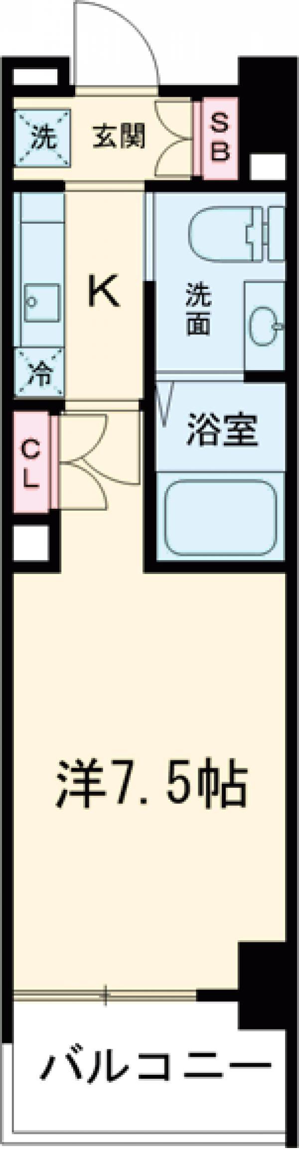 AZESTお花茶屋Ⅱ・702号室の間取り