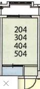 シェアレジデンス国分寺・404号室の間取り