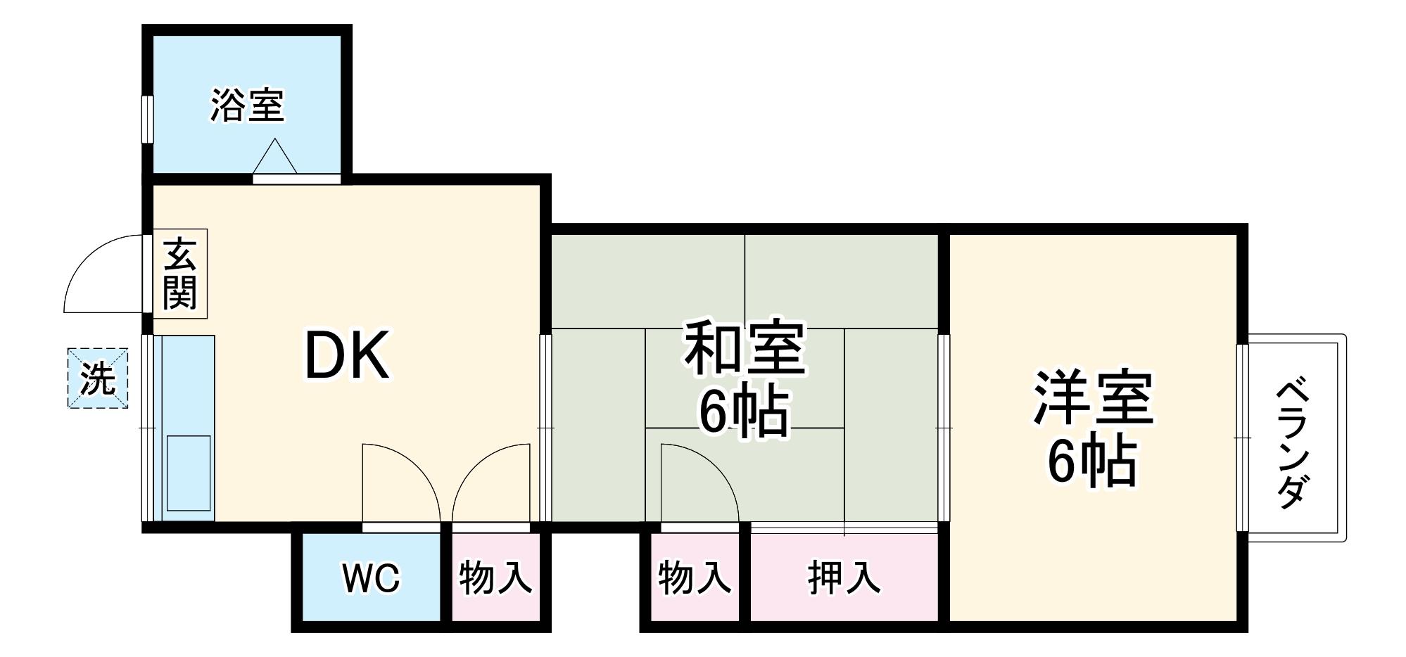 第8丸福荘・203号室の間取り
