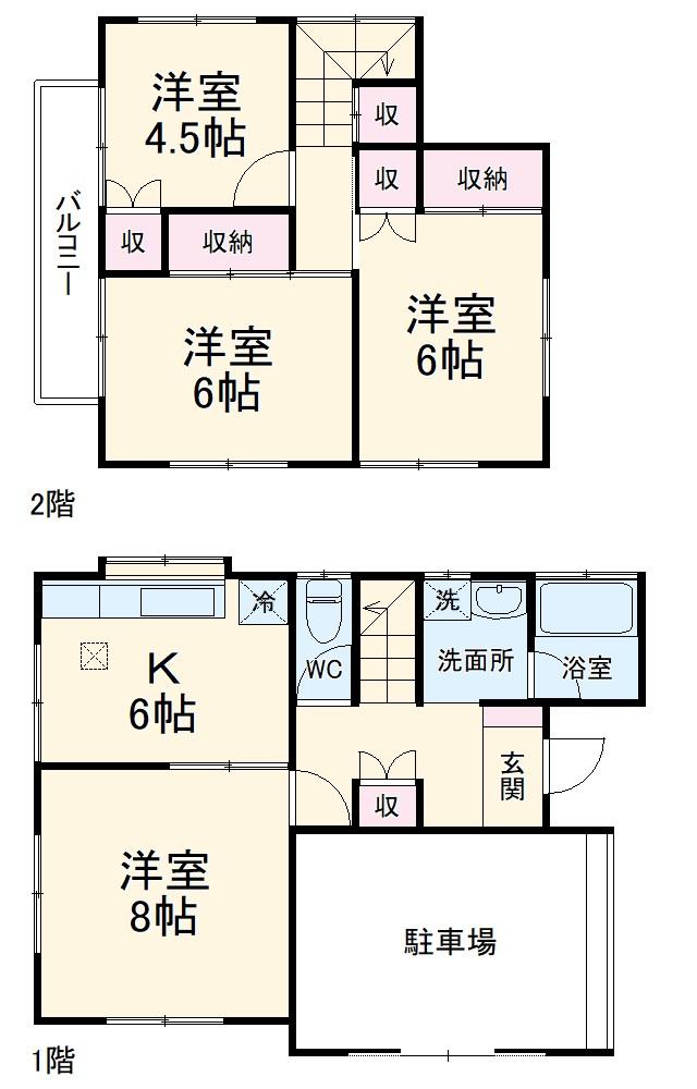 本田5丁目貸家・1号室の間取り
