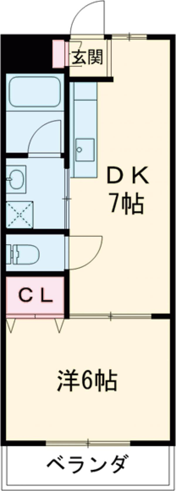 榎本マンション・402号室の間取り