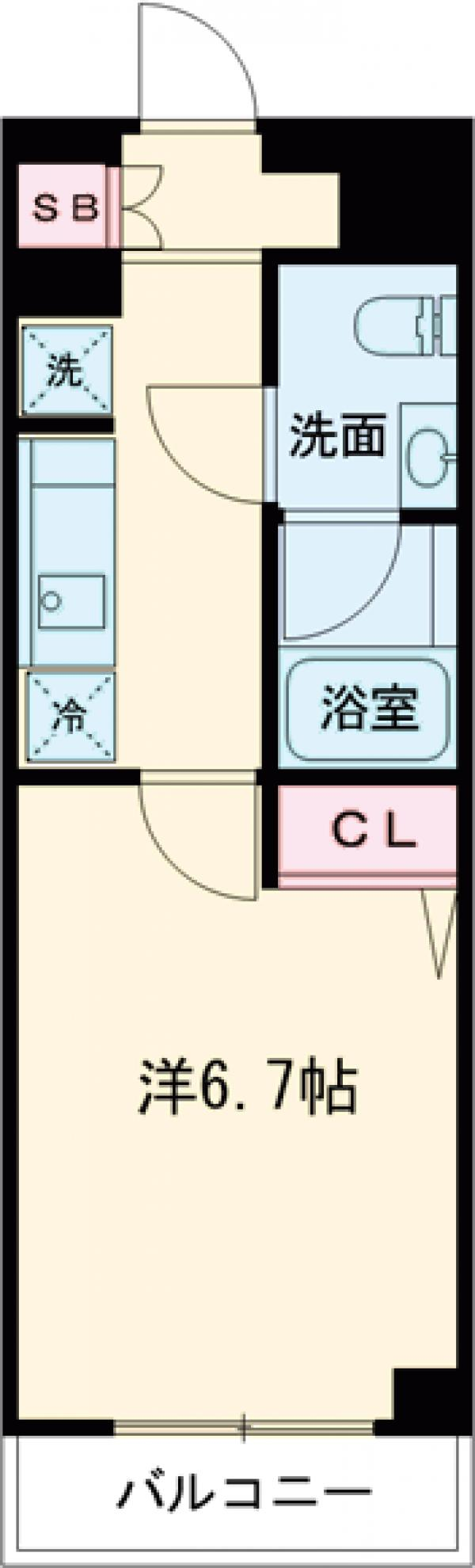 AZEST亀有Ⅱ・410号室の間取り