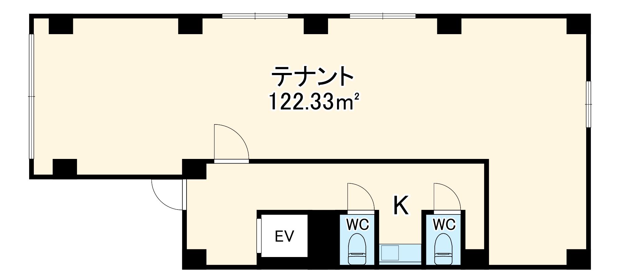 博多イーストビル・3号室の間取り