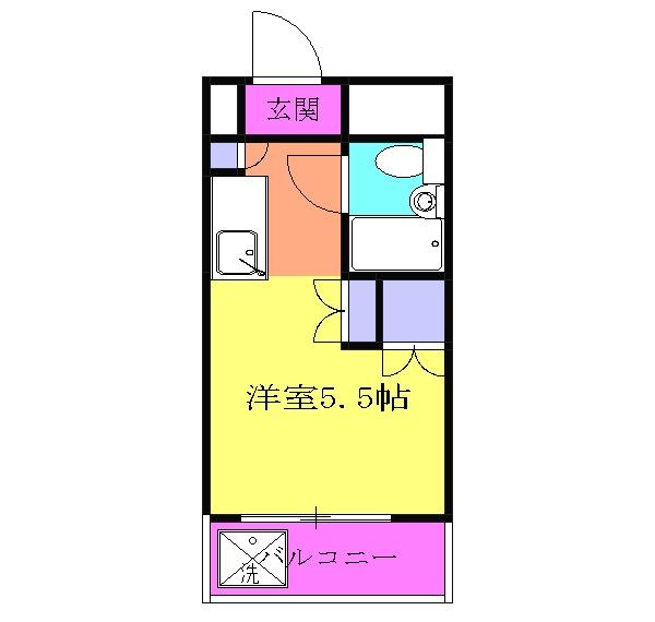 会田コーポ 401号室の間取り