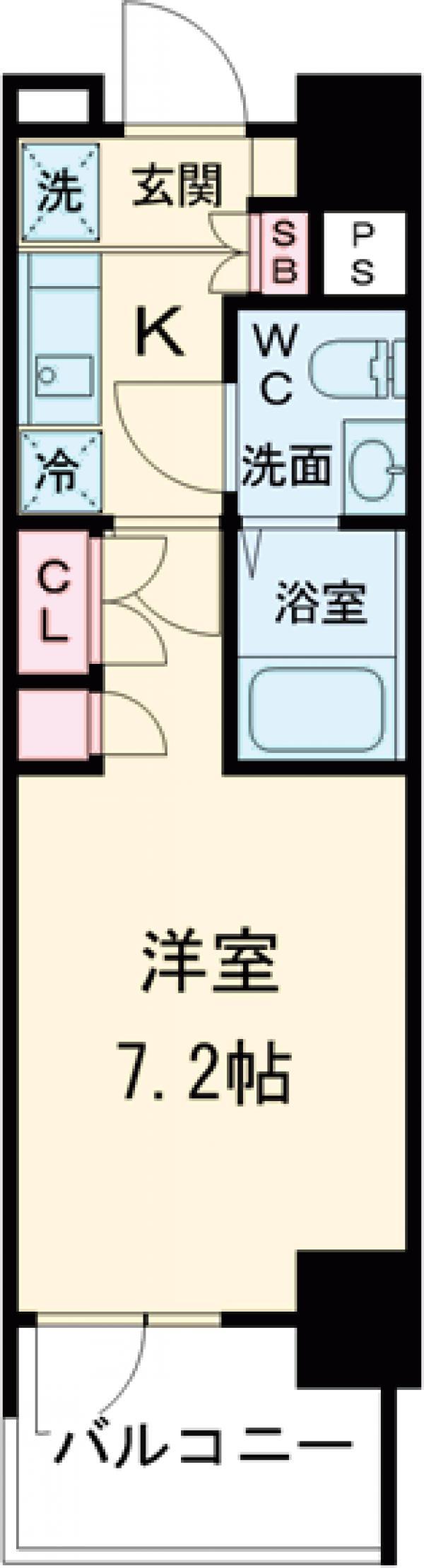 AZESTお花茶屋Ⅱ・1010号室の間取り