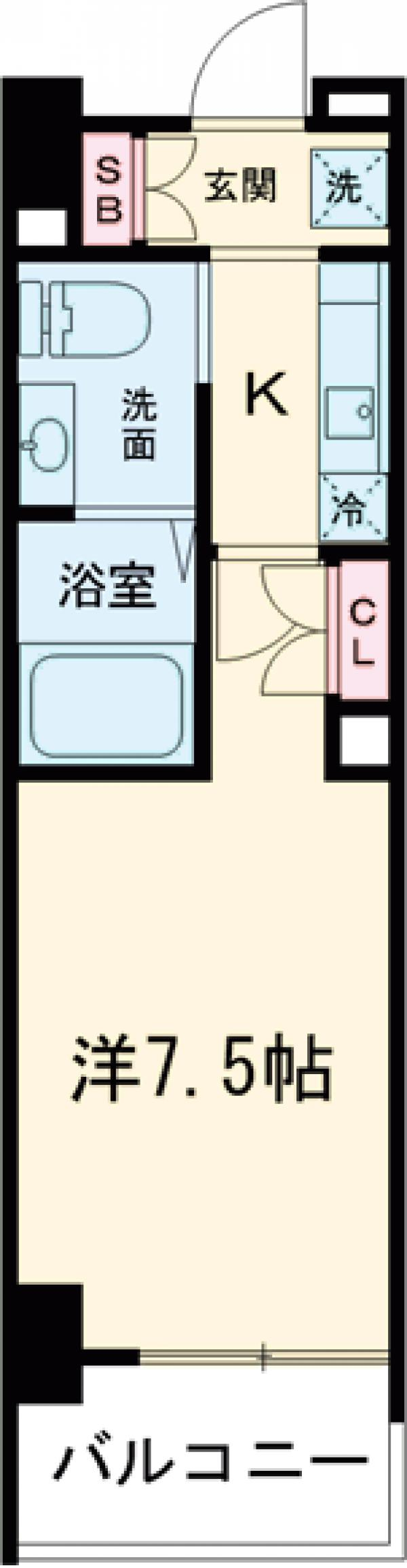 AZESTお花茶屋Ⅱ・1203号室の間取り