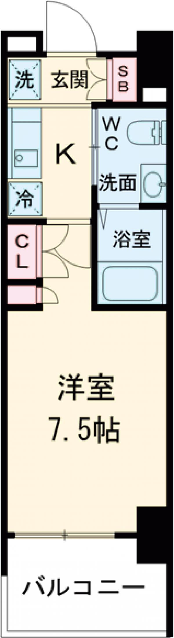 AZESTお花茶屋Ⅱ・1204号室の間取り