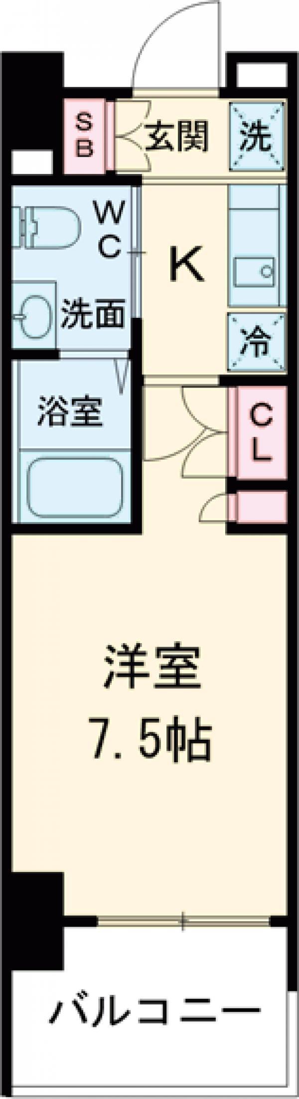AZESTお花茶屋Ⅱ・1209号室の間取り