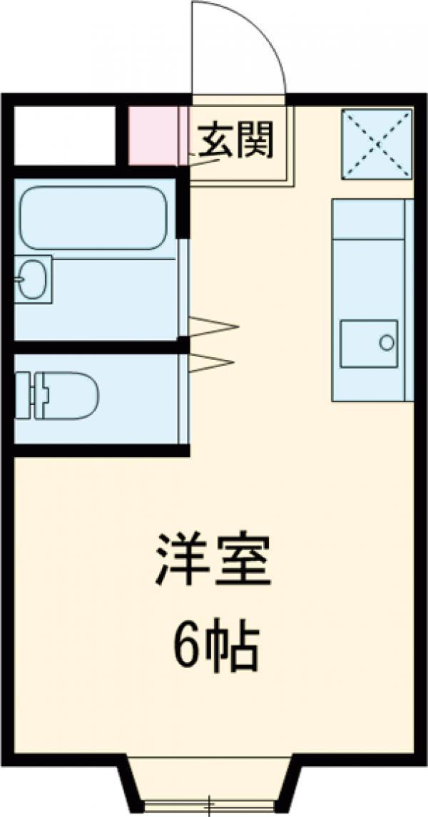 プラットホーム総持寺駅前・103号室の間取り