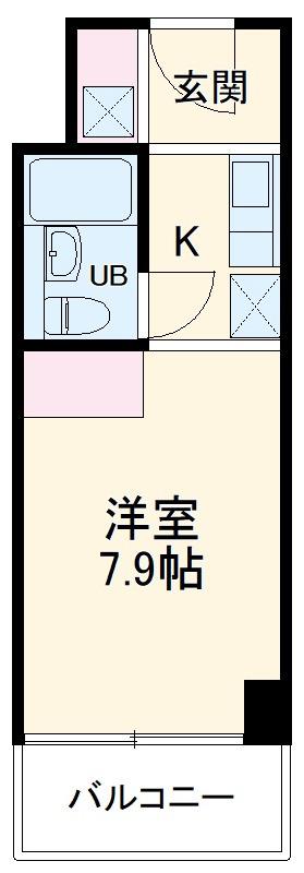 ガーデンヒルズ聖蹟桜ヶ丘・701号室の間取り