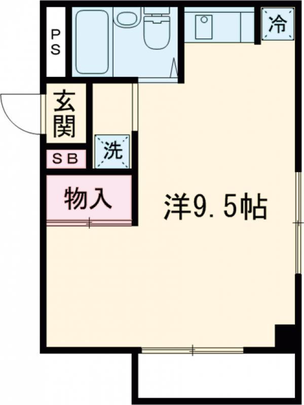小金井NSハウス 311号室の間取り