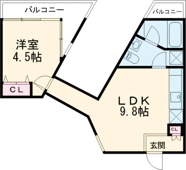 J-PRIDE・006号室の間取り