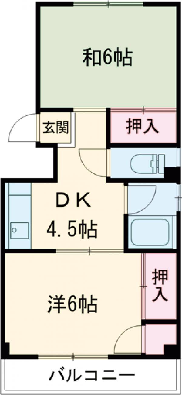 カーサ北新宿・201号室の間取り