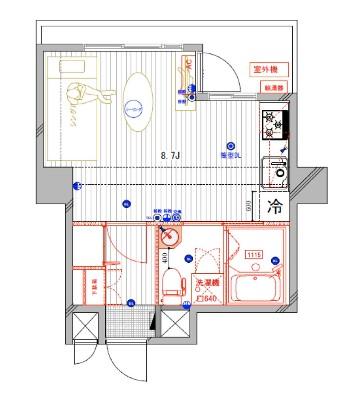 ジョイ尾山台 402号室の間取り