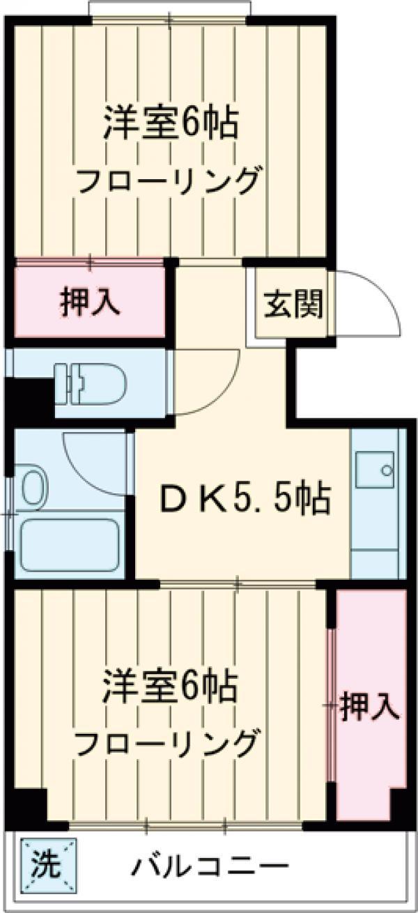 カーサ北新宿・202号室の間取り