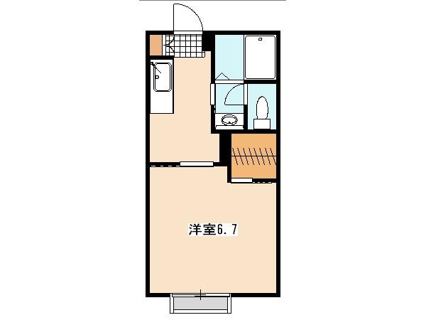 ヴェルデ玉川学園・A-203号室の間取り