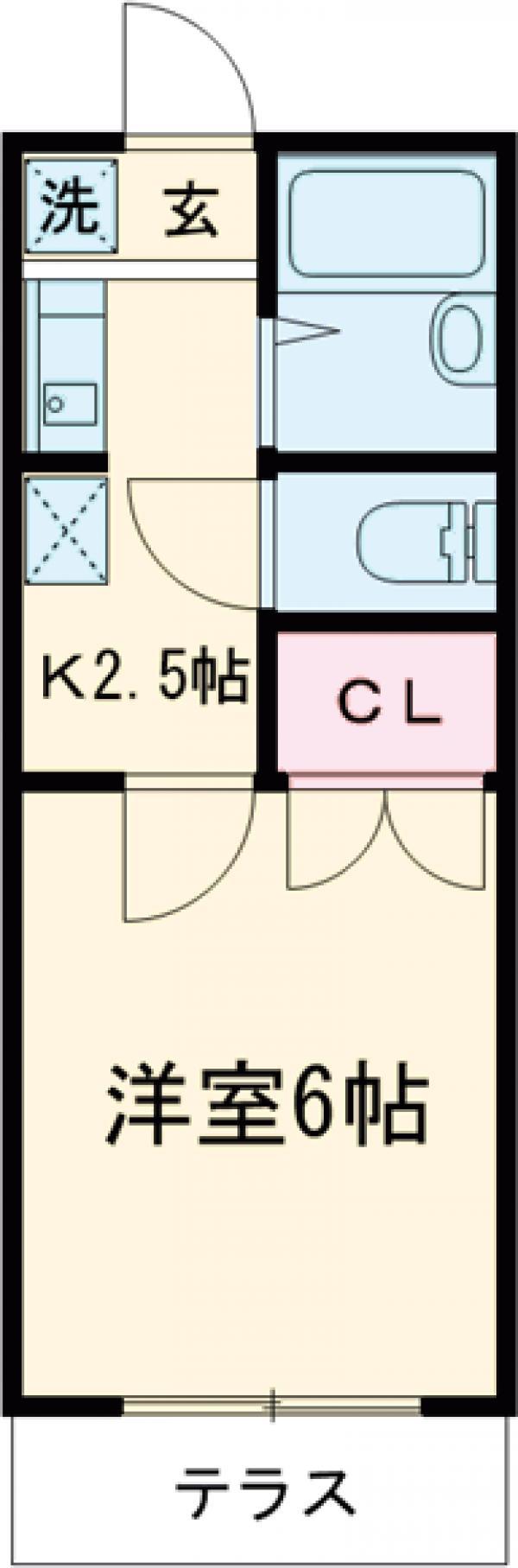 コーポ田中・202号室の間取り