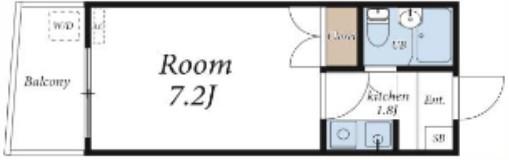 ホワイトパレス板橋・302号室の間取り