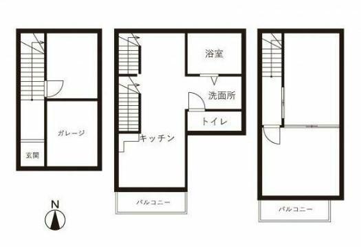 北新宿テラスハウス・-号室の間取り