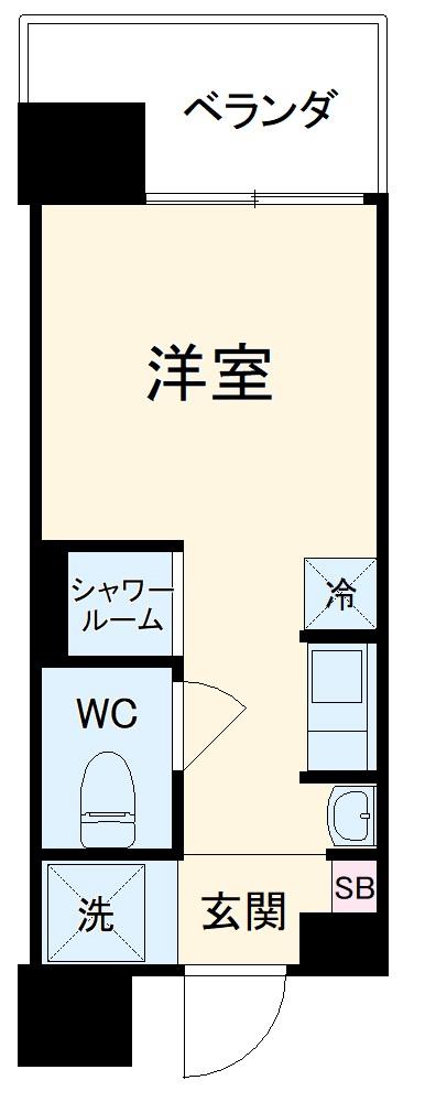 Hana House-Maezima・203号室の間取り