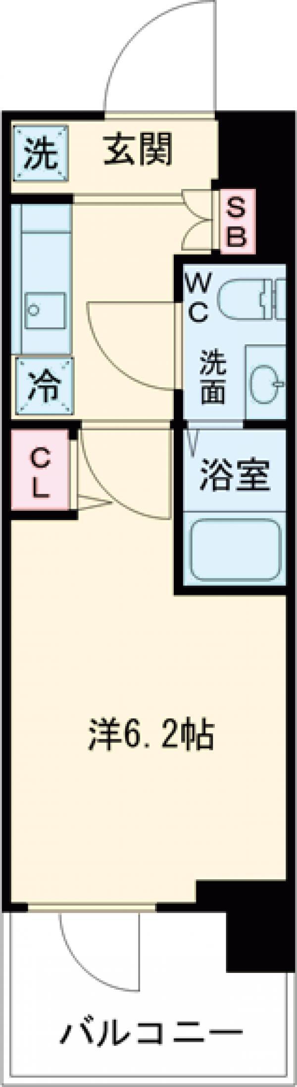 SHOKEN Residence亀有・201号室の間取り