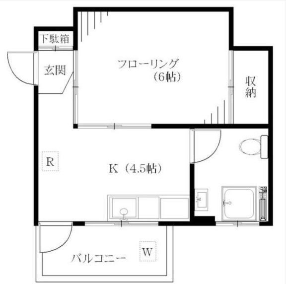 カーサ北新宿・101号室の間取り