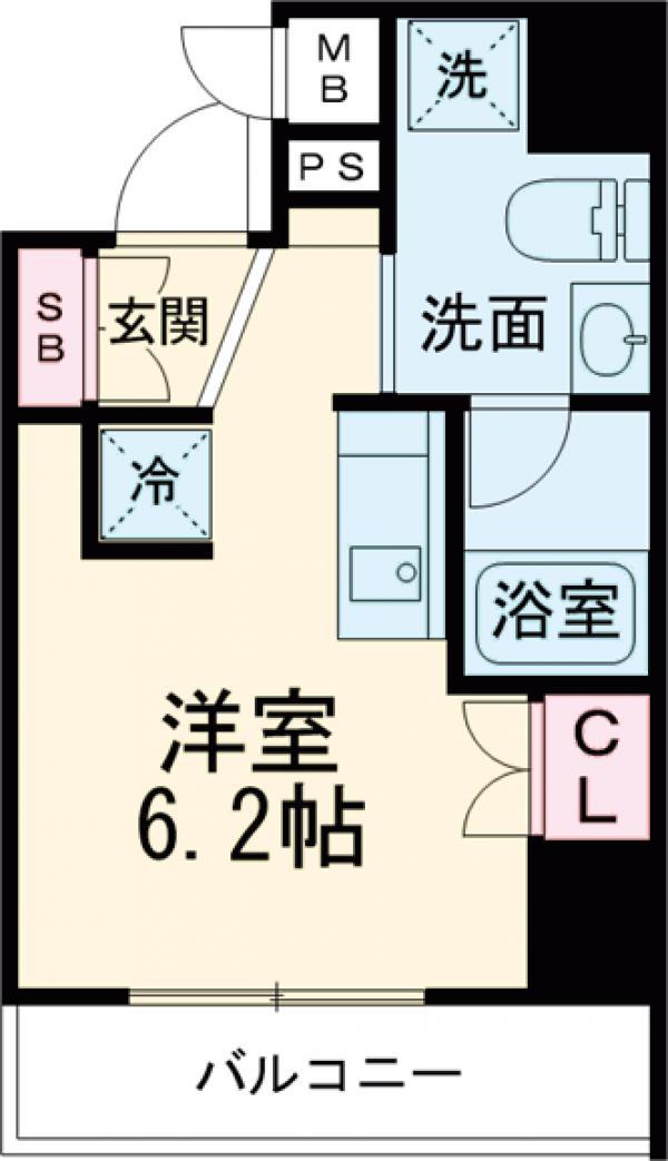 エルフォルテ五反田・201号室の間取り