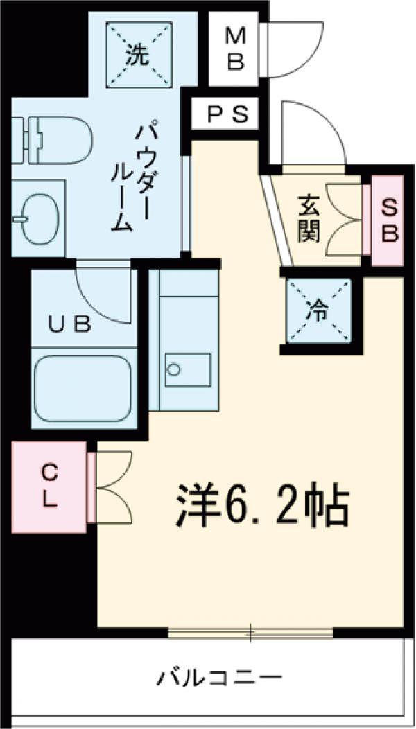 エルフォルテ五反田・202号室の間取り