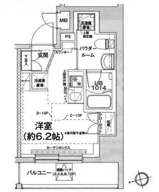 エルフォルテ五反田・301号室の間取り