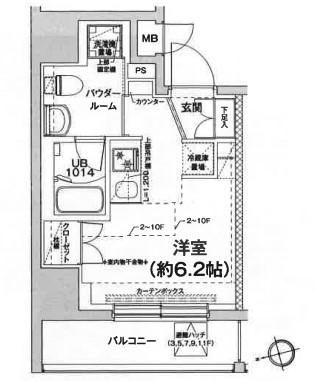 エルフォルテ五反田・602号室の間取り