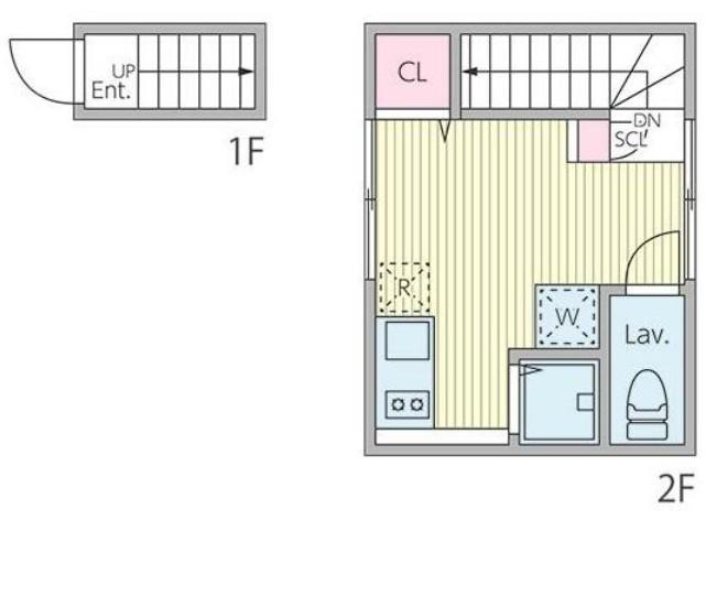 プレジ桜新町・205号室の間取り