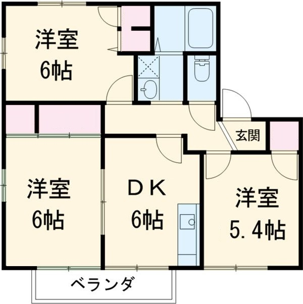 ファミール前田・A202号室の間取り